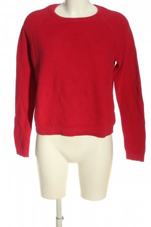 Woman by Tchibo Rundhalspullover rot Casual-Look