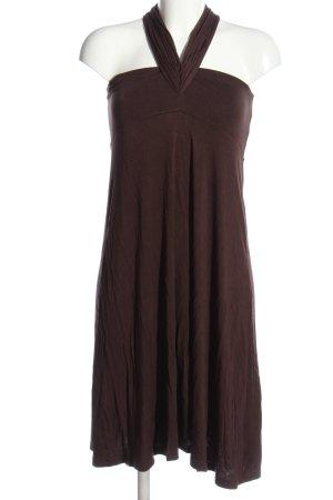 Woman by Tchibo schulterfreies Kleid braun Casual-Look