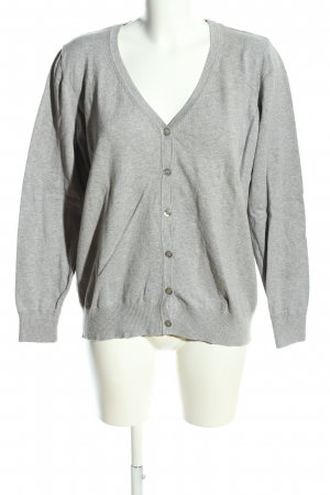 Woman by Tchibo Strickjacke hellgrau meliert Casual-Look