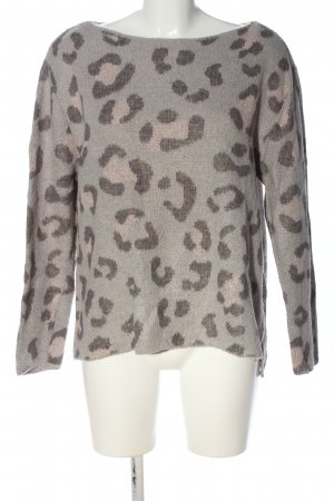 Woman by Tchibo Strickpullover hellgrau-pink Leomuster Casual-Look