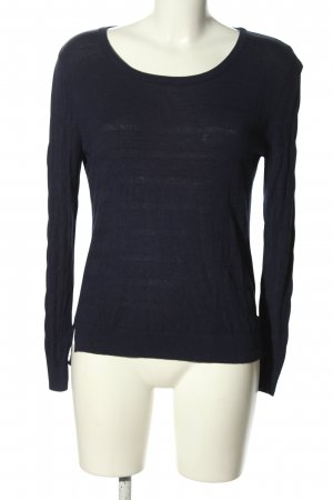 Woman by Tchibo Strickpullover blau Streifenmuster Casual-Look