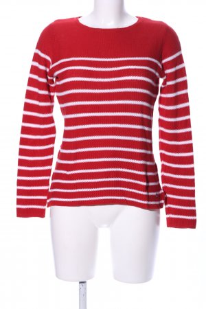 Woman by Tchibo Strickpullover rot-weiß Streifenmuster Casual-Look