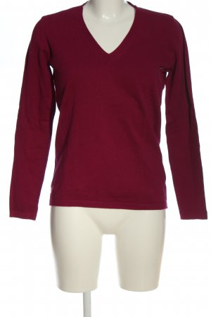 Woman by Tchibo V-Ausschnitt-Pullover rot Casual-Look