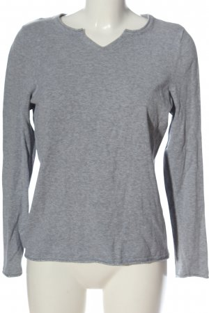 Woman by Tchibo V-Neck Sweater light grey flecked casual look