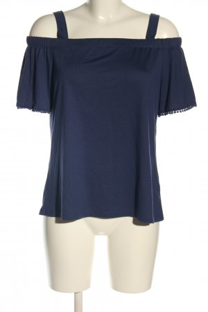 woman essentials by Tchibo Camisa tipo Carmen azul look casual