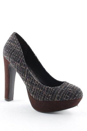 WOMAN High Heels braun-creme meliert Party-Look