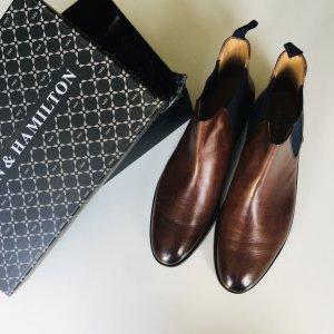 Melvin & hamilton Zapatos estilo Oxford marrón oscuro-azul oscuro Cuero