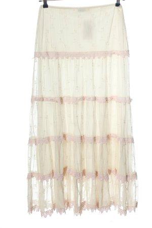Woman's Fashion Maxi gonna crema motivo astratto stile casual