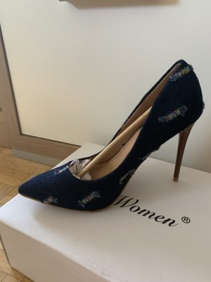 Woman Stilettos/Pumps - Black - Größe 37 - JeansOptik! NEW
