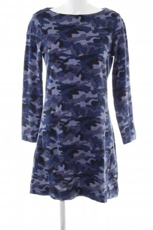 WOMAN Strickkleid blau-lila Camouflagemuster Casual-Look