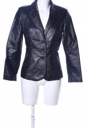 Leather Blazer black business style