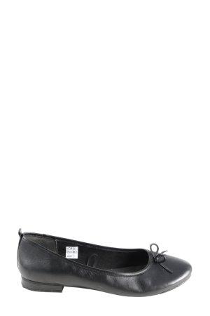 women essentials by Tchibo Ballerina di pelle verniciata nero stile casual
