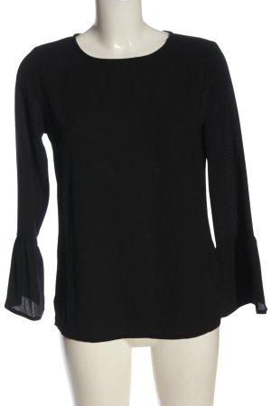 women essentials by Tchibo Langarm-Bluse schwarz Casual-Look