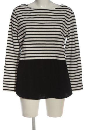women essentials by Tchibo Langarm-Bluse schwarz-weiß Streifenmuster