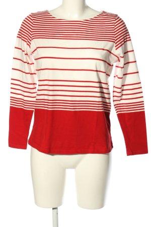 women essentials by Tchibo Longsleeve rot-weiß Streifenmuster Casual-Look