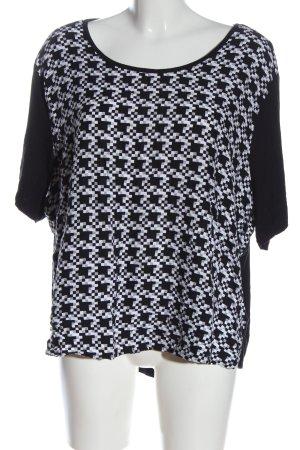 women limited by tchibo U-Boot-Shirt schwarz-weiß Allover-Druck Casual-Look