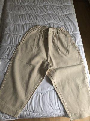 Pantalone largo crema