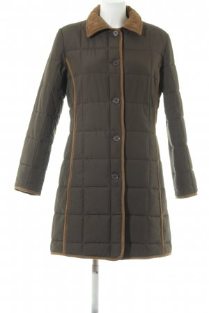 Women's Dress Concept Quilted Coat green grey-light brown casual look