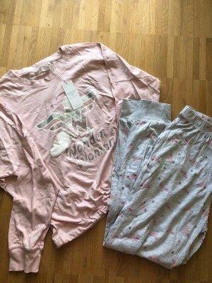 women'secret Pigiama rosa chiaro-grigio chiaro