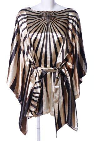 Women's Selection Tuniekblouse zwart-goud grafisch patroon extravagante stijl