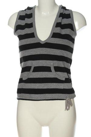 women'secret Hooded Vest light grey-black flecked casual look