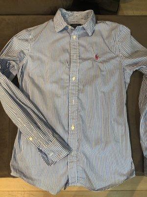 Ralph Lauren Blouse en jean blanc-bleu