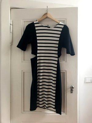Won Hundred Hollie Kleid gestreift schwarz weiß mit Cut Outs Gr. M (36/38)