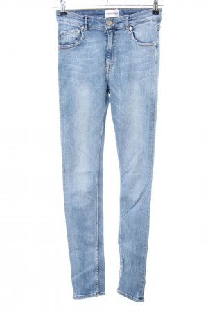 Won Hundred Skinny Jeans blau-weiß Casual-Look