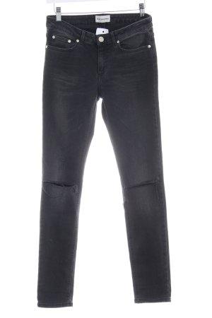 Won Hundred Skinny Jeans schwarz-silberfarben Jeans-Optik