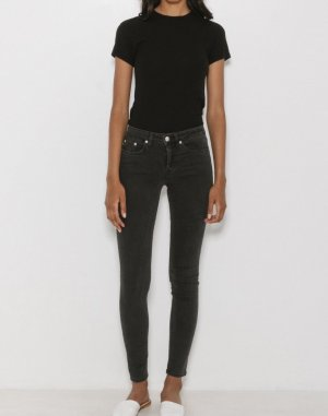 Won Hundred Skinny Patti Jeans schwarz/grau Minimalistisch Clean Chic Cosy Blogger Skandinavisch