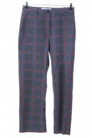 Won Hundred Stoffhose blau-rot Allover-Druck Casual-Look