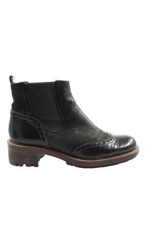 wonders Chelsea Boots black casual look
