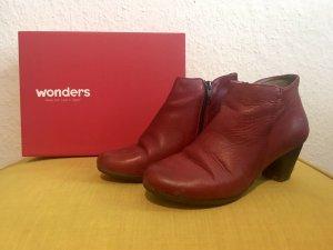 Wonders Stiefeletten, rot, Gr. 39, 100% Leder