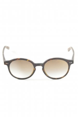 Wood Fellas ovale Sonnenbrille braun-hellorange Casual-Look