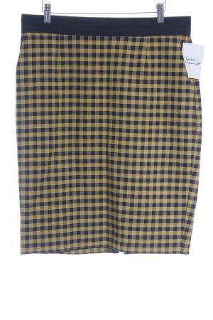 Wood Wood Pencil Skirt black-dark yellow check pattern street-fashion look