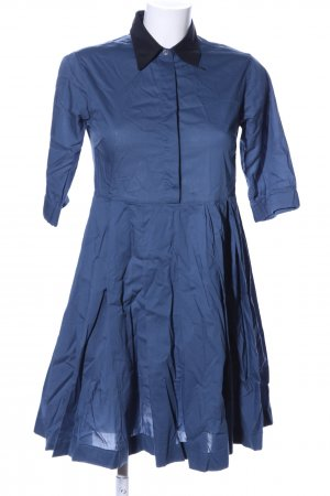 Wood Wood Blusenkleid blau Business-Look