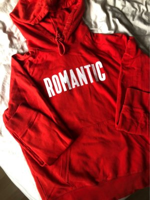 "Wood Wood Burnt Red Cotton Fred Hoodie ""Romantic"""