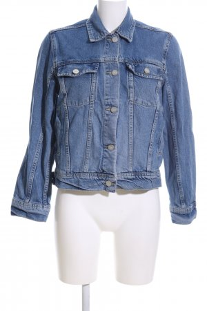 Wood Wood Jeansjacke blau Casual-Look