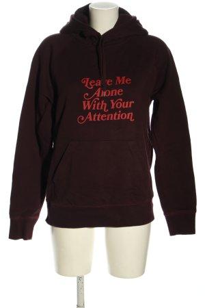 Wood Wood Hooded Sweatshirt brown printed lettering casual look