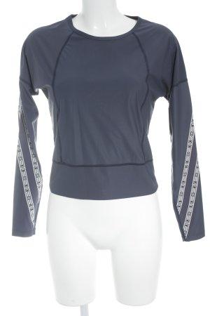 Wood Wood Long Sleeve Blouse dark blue-white casual look