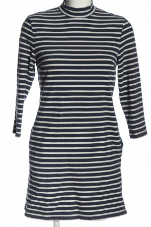 Wood Wood Longsleeve Dress blue-white striped pattern casual look
