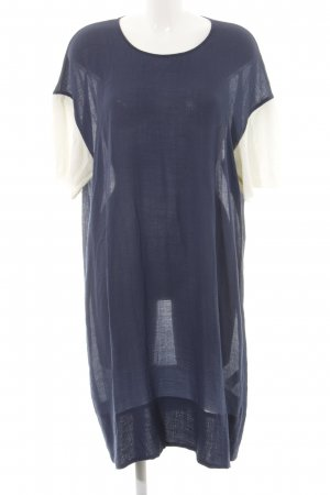 Wood Wood Shirt Dress blue-natural white printed lettering casual look