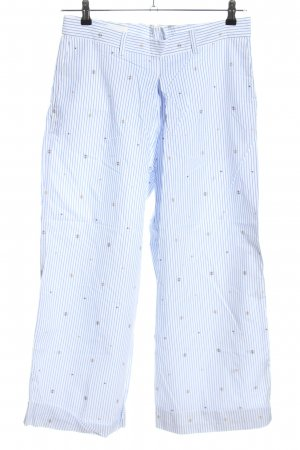 Wood Wood Jersey Pants blue-white striped pattern casual look