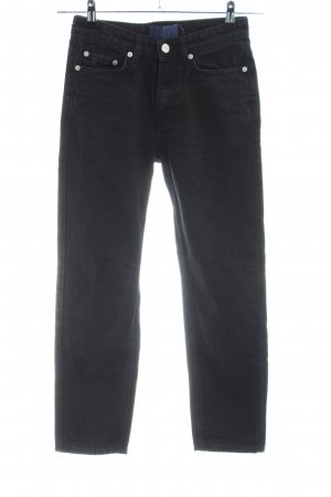 Wood Wood Straight-Leg Jeans schwarz Casual-Look