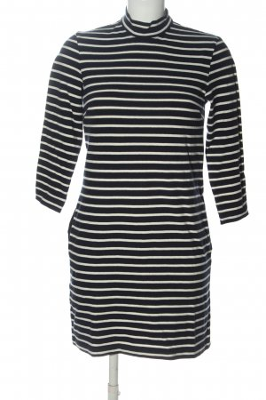 Wood Wood Knitted Dress black-white striped pattern casual look