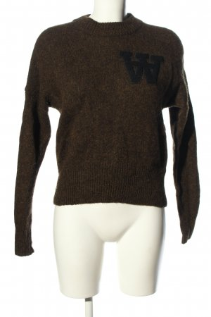 Wood Wood Strickpullover braun meliert Casual-Look