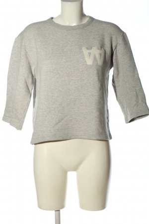 Wood Wood Sweat Shirt light grey flecked casual look