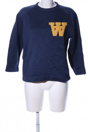 Wood Wood Sweatshirt blau-blassgelb Casual-Look