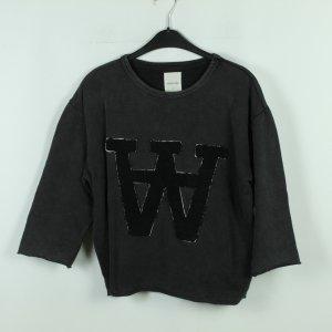 Wood Wood Sweat Shirt black-taupe cotton