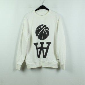Wood Wood Sweat Shirt white-black cotton